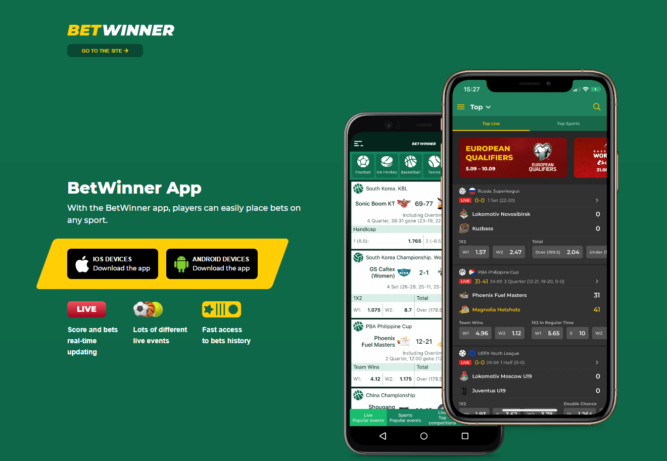 Betwinner apk android ios